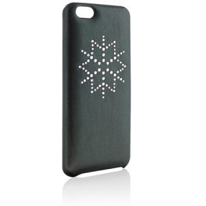 Green Cover for iPhone with Swarovski crystal