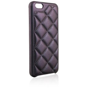 Cover for iPhone Shiny Night leather Matelassé