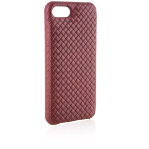Cover for iPhone Intreccio style red leather